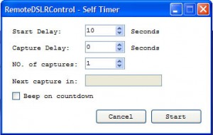 Remote DSLR Control - Self Timer